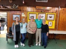 Flight B Swiss Team Winners: Phyllis Mosher, Lida Paller, Ray & Joyce Holland